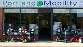 Portland Healthcare and Mobility Aids Grimsby Shopfront