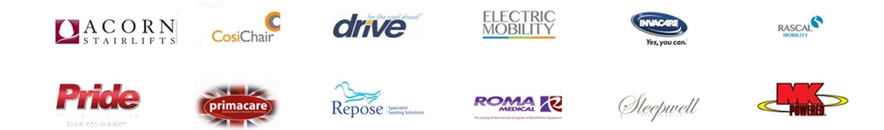 A list of Mobility Aids Brands that we Stock